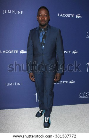 LOS ANGELES - FEB 23:  Lamorne Morris at the 18th Costume Designers Guild Awards at the Beverly Hilton Hotel on February 23, 2016 in Beverly Hills, CA - stock photo