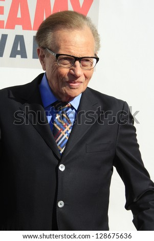 LOS ANGELES - FEB 17: Larry King at the 3rd Annual Streamy Awards at the Hollywood Palladium on February 17, 2013 in Los Angeles, California - stock photo