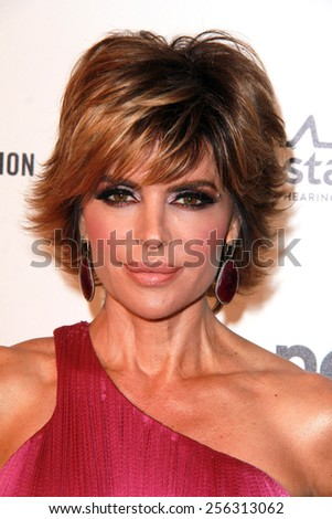 LOS ANGELES - FEB 22:  Lisa Rinna at the Elton John Oscar Party 2015 at the City Of West Hollywood Park on February 22, 2015 in West Hollywood, CA - stock photo