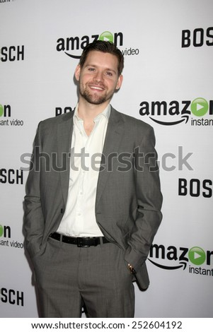 """LOS ANGELES - FEB 3:  Luke Kleintank at the """"Bosch"""" Amazon Red Carpet Premiere Screening at a ArcLight Hollywood Theaters on February 3, 2015 in Los Angeles, CA - stock photo"""