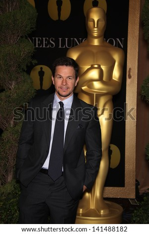LOS ANGELES - FEB 7:  MARK WAHLBERG arrives to the 83rd Academy Awards Nominees Luncheon  on Feb 7, 2011 in Beverly Hills, CA - stock photo