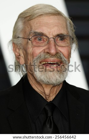 LOS ANGELES - FEB 22:  Martin Landau at the Vanity Fair Oscar Party 2015 at the Wallis Annenberg Center for the Performing Arts on February 22, 2015 in Beverly Hills, CA - stock photo