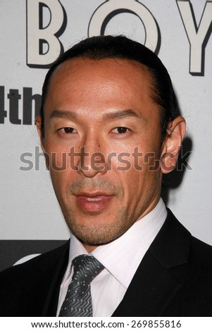 """LOS ANGELES - FEB 14:  Masami Kosaka at the """"Little Boy"""" Los Angeles Premiere at the Regal 14 Theaters on April 14, 2015 in Los Angeles, CA - stock photo"""