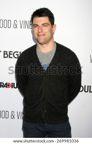 "LOS ANGELES - FEB 15:  Max Greenfield at the ""Adult Beginners"" Los Angeles Premiere at the ArcLight Hollywood Theaters on April 15, 2015 in Los Angeles, CA - stock photo"