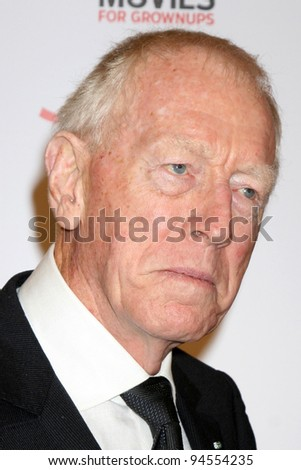 LOS ANGELES - FEB 6:  Max von Sydow arrives at the AARP's 11th Annual Movies For Gownups Awards at Beverly Wilshire Hotel on February 6, 2012 in Beverly Hills, CA