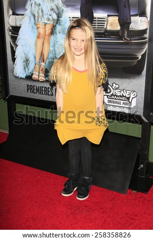 LOS ANGELES - FEB 10: Mia Talerico at the screening of the Disney Channel Original Movie 'Bad Hair Day' at the Frank G Wells Theater on February 10, 2015 in Burbank, CA - stock photo