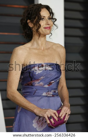 LOS ANGELES - FEB 22:  Minnie Driver at the Vanity Fair Oscar Party 2015 at the Wallis Annenberg Center for the Performing Arts on February 22, 2015 in Beverly Hills, CA - stock photo