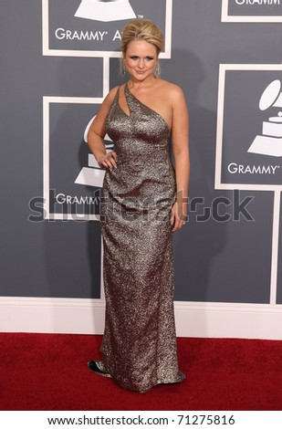 LOS ANGELES - FEB 13: Miranda Lambert arrives at the 2011 Grammy Awards on February 13, 2011 in Los Angeles, CA