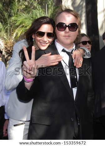 LOS ANGELES - FEB 09:  Nancy Shevell & James McCartney arrives to the Walk of Fame Ceremony for Paul McCartney  on Febraury 09, 2012 in Hollywood, CA                 - stock photo