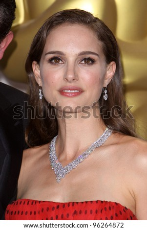 LOS ANGELES - FEB 26:  Natalie Portman in the Press Room at the 84th Academy Awards at the Hollywood & Highland Center on February 26, 2012 in Los Angeles, CA - stock photo