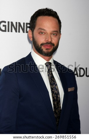 """LOS ANGELES - FEB 15:  Nick Kroll at the """"Adult Beginners"""" Los Angeles Premiere at the ArcLight Hollywood Theaters on April 15, 2015 in Los Angeles, CA - stock photo"""