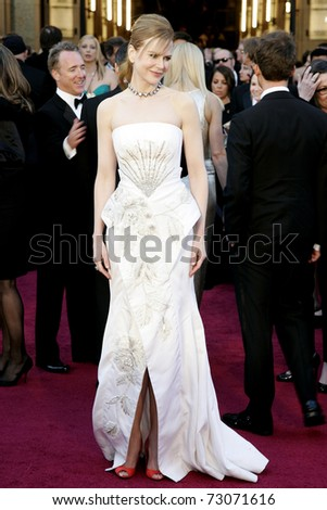 LOS ANGELES - FEB 27:  NIcole Kidman arrives at the 83rd Annual Academy Awards - Oscars at the Kodak Theater on February 27, 2011 in Los Angeles, CA. - stock photo