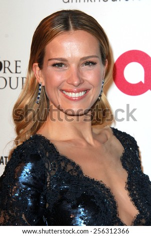 LOS ANGELES - FEB 22:  Petra Nemkova at the Elton John Oscar Party 2015 at the City Of West Hollywood Park on February 22, 2015 in West Hollywood, CA - stock photo