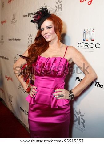 "LOS ANGELES - FEB. 12: Phoebe Price attends the ""Fame At The Mansion"" 2012 Grammy Aterparty hosted by Sean ""Diddy"" Combs at the Playboy Mansion in Los Angeles on Feb. 12, 2012. - stock photo"