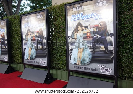 LOS ANGELES - FEB 10: Poster, Atmosphere at the screening of the Disney Channel Original Movie 'Bad Hair Day' at the Frank G Wells Theater on February 10, 2015 in Burbank, CA - stock photo
