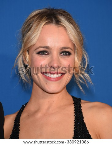 LOS ANGELES - FEB 06:  Rachel McAdams arrives to the Directors Guild Awards 2016  on February 06, 2016 in Century City, CA.                 - stock photo