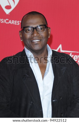 LOS ANGELES - FEB 10:  Randy Jackson arrives at the 2012 MusiCares Gala honoring Paul McCartney at LA Convention Center on February 10, 2012 in Los Angeles, CA - stock photo