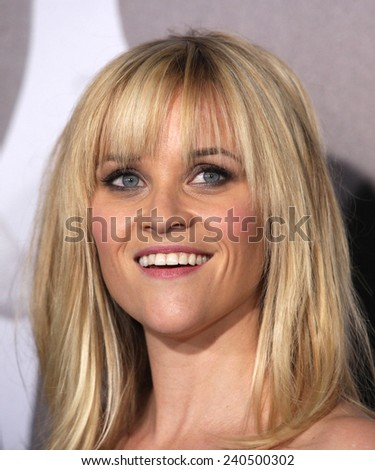 "LOS ANGELES - FEB 08:  REESE WITHERSPOON arrives to the ""This Means War"" Los Angeles Premiere  on February 08, 2012 in Hollywood, CA                 - stock photo"