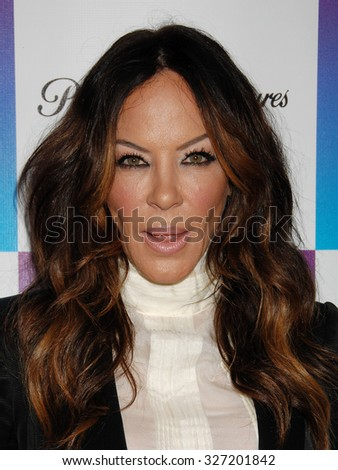 LOS ANGELES - FEB 8 - Robin Antin arrives at the 16th Annual Friends N Family Pre Grammy Party on February 8, 2013 in Los Angeles, CA              - stock photo