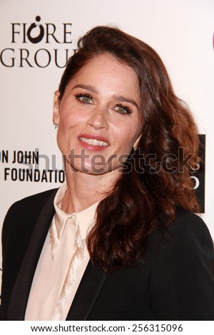 LOS ANGELES - FEB 22:  Robin Tunney at the Elton John Oscar Party 2015 at the City Of West Hollywood Park on February 22, 2015 in West Hollywood, CA - stock photo