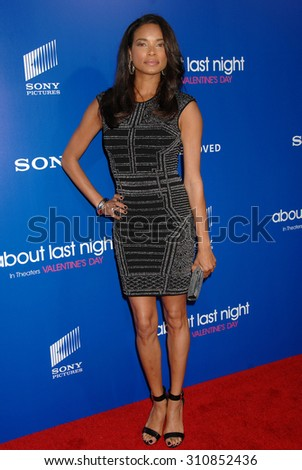 LOS ANGELES - FEB 11:  Rochelle Aytes arrives at the Pan African Film and Arts Festival Premiere of Screen Gems About Last Night   on February 11, 2014 in Hollywood, CA                 - stock photo