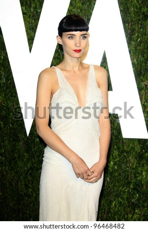 LOS ANGELES - FEB 26:  Rooney Mara arrives at the 2012 Vanity Fair Oscar Party  at the Sunset Tower on February 26, 2012 in West Hollywood, CA - stock photo