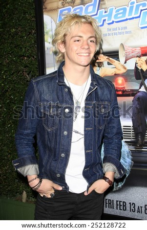 LOS ANGELES - FEB 10: Ross Lynch at the screening of the Disney Channel Original Movie 'Bad Hair Day' at the Frank G Wells Theater on February 10, 2015 in Burbank, CA - stock photo