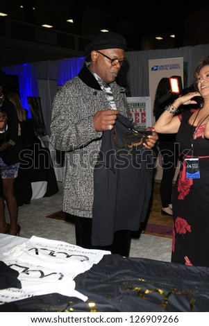 LOS ANGELES - FEB 1: Samuel L Jackson in the Bellafortuna Entertainment gifting suite at the NAACP awards on February 1, 2013 in Los Angeles, California - stock photo