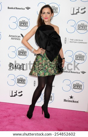 LOS ANGELES - FEB 21:  Sandra Bauknech at the 30th Film Independent Spirit Awards at a tent on the beach on February 21, 2015 in Santa Monica, CA - stock photo