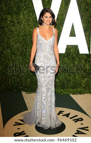 LOS ANGELES - FEB 26:  Selena Gomez arrives at the 2012 Vanity Fair Oscar Party  at the Sunset Tower on February 26, 2012 in West Hollywood, CA - stock photo