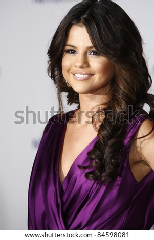 LOS ANGELES - FEB 8: Selena Gomez at the Los Angeles premiere of 'Justin Bieber: Never Say Never' at the Nokia Theater L.A.Live in Los Angeles, California. on February 8, 2011. - stock photo
