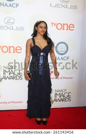 LOS ANGELES - FEB 6:  Shanica Knowles at the 46th NAACP Image Awards Arrivals at a Pasadena Convention Center on February 6, 2015 in Pasadena, CA - stock photo