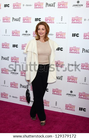 LOS ANGELES - FEB 23:  Sharon Lawrence attends the 2013 Film Independent Spirit Awards at the Tent on the Beach on February 23, 2013 in Santa Monica, CA - stock photo