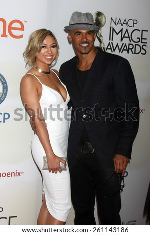 LOS ANGELES - FEB 6:  Shemar Moore at the 46th NAACP Image Awards Arrivals at a Pasadena Convention Center on February 6, 2015 in Pasadena, CA - stock photo