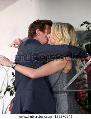 LOS ANGELES - FEB 14:  Simon Baker, Naomi Watts at the Hollywood Walk of Fame Ceremony honoring Simon Baker at the Hollywood Boulevard on February 14, 2013 in Los Angeles, CA