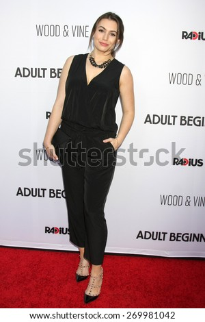 "LOS ANGELES - FEB 15:  Sophie Simmons at the ""Adult Beginners"" Los Angeles Premiere at the ArcLight Hollywood Theaters on April 15, 2015 in Los Angeles, CA - stock photo"