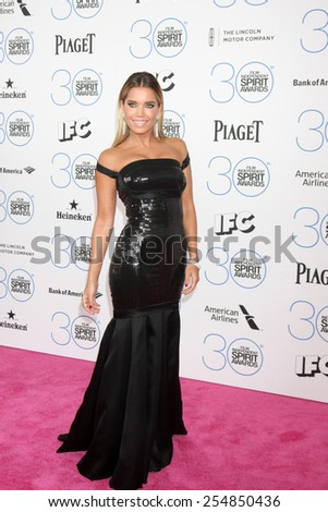 LOS ANGELES - FEB 21:  Sylvie Meis at the 30th Film Independent Spirit Awards at a tent on the beach on February 21, 2015 in Santa Monica, CA - stock photo
