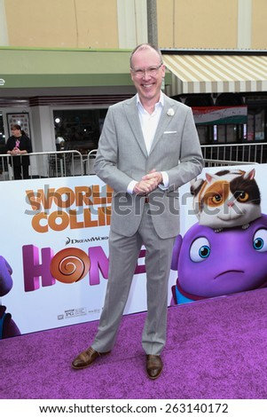 "LOS ANGELES - FEB 22:  Tim Johnson at the ""Home"" Special Screening Red Carpet at the Village Theater on March 22, 2015 in Westwood, CA - stock photo"