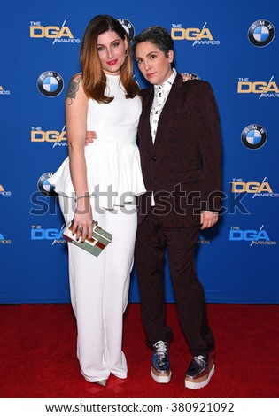 LOS ANGELES - FEB 06:  Trace Lysette & Jill Soloway arrives to the Directors Guild Awards 2016  on February 06, 2016 in Century City, CA.