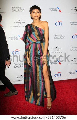 LOS ANGELES - FEB 8:  Zendaya Coleman at the Universal Music Group 2015 Grammy After Party at a The Theater at Ace Hotel on February 8, 2015 in Los Angeles, CA - stock photo