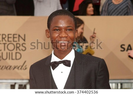 LOS ANGELES - JAN 30:  Abraham Attah at the 22nd Screen Actors Guild Awards at the Shrine Auditorium on January 30, 2016 in Los Angeles, CA - stock photo
