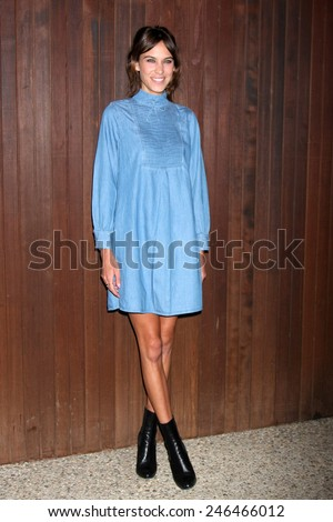 LOS ANGELES - JAN 22:  Alexa Chung at the Alexa Chung For AG Los Angeles Launch Party at a Private Location on January 22, 2015 in Beverly Hills, CA - stock photo