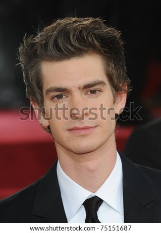 LOS ANGELES - JAN 16:  Andrew Garfield arrives to the 68th Annual Golden Globe Awards  on January 16, 2011 in Beverly Hills, CA - stock photo