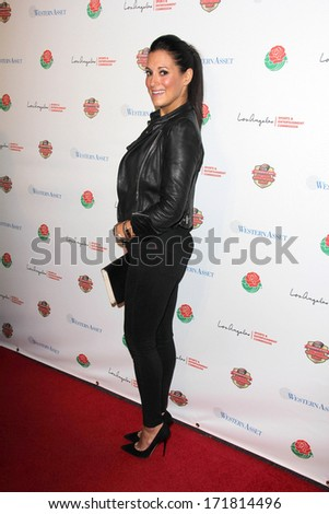 LOS ANGELES - JAN 5:  Angelique Cabral at the BCS National Championship Party at Pasadena Convention Center on January 5, 2014 in Pasadena, CA - stock photo