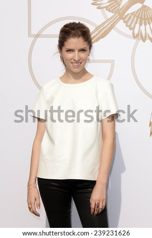 LOS ANGELES - JAN 9:  Anna Kendrick at the LoveGold Event at the Selma House on January 9, 2014 in Los Angeles, CA - stock photo