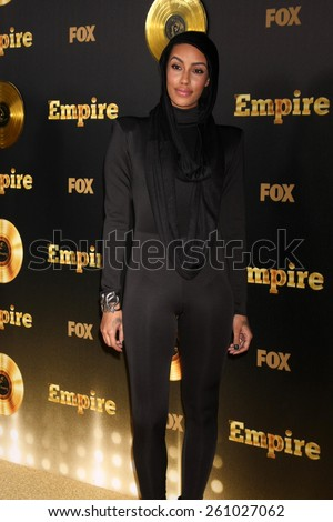 "LOS ANGELES - JAN 6:  Azmarie Livingston at the FOX TV ""Empire"" Premiere Event at a ArcLight Cinerama Dome Theater on January 6, 2014 in Los Angeles, CA - stock photo"