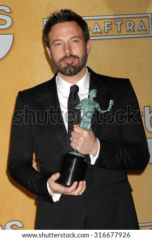 LOS ANGELES - JAN 27 - Ben Affleck arrives at the 19th Annual Screen Actors Guild Awards Press Room  on January 27, 2013 in Los Angeles, CA              - stock photo