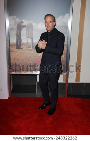 "LOS ANGELES - JAN 29:  Bob Odenkirk at the ""Better Call Saul"" Series Premiere Screening at a Regal 14 Theaters on January 29, 2015 in Los Angeles, CA - stock photo"