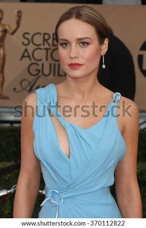 LOS ANGELES - JAN 30:  Brie Larson at the 22nd Screen Actors Guild Awards at the Shrine Auditorium on January 30, 2016 in Los Angeles, CA - stock photo