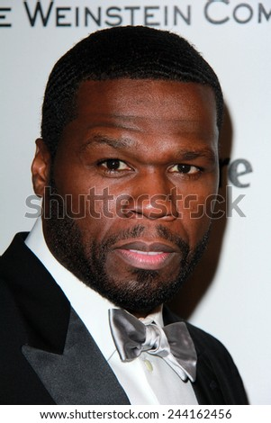 LOS ANGELES - JAN 11:  50 Cent at the The Weinstein Company / Netflix Golden Globes After Party at a Beverly Hilton Adjacent on January 11, 2015 in Beverly Hills, CA - stock photo